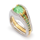 Mint Tsavorite garnet ring by Coffin & Trout Fine Jewelers.